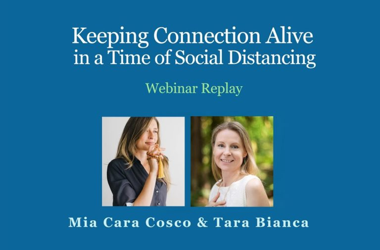 Keeping Connection Alive in a Time of Social Distancing
